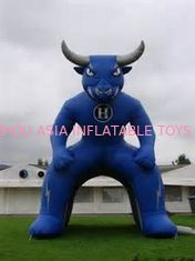 China Inflatable Blue Bull Entrance, Inflatable Tunnel For Sports Event factory