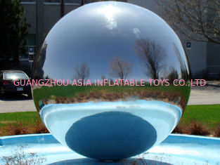 Durable Charming Inflatable Advertising Balloons Mirror Toys , Mirrored Sphere