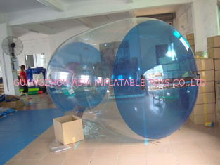 China Blue Transparent Inflatable Water Roller Balls for Kids Inflatable Pool factory