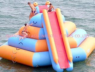China Leisure Inflatable Water Sports / Inflatable Water Tower with climbing factory