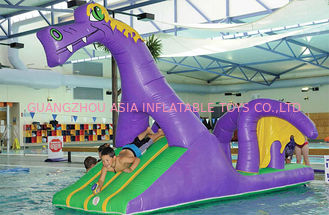 China Creative Purple Dragon Water Obstacle Slide For Swimming Pool Games supplier