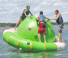 China Green And White Inflatable Tilting Saturn For Water Games In Summer supplier