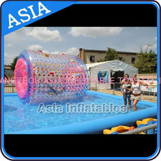 China Colourful Inflatable Water Walking Roller for outside activity , factory