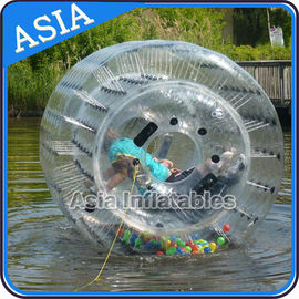 China Water Playing Games Inflatable Floating Water Roller  for Kids Inflatable Pool factory