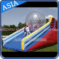 China Inflatable Human Hamster Glass Roller Zorb Ball For Ramp Zorbing factory