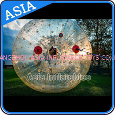 China 2.5m Children Human Hamaster Inflatable Zorb Ball , Grass Roller Ball factory