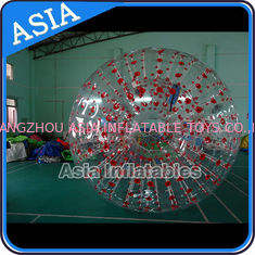China Color Dots Inflatable Zorb Ball , Grass Zorb Ball , Inflatable Human Hamster Ball Customized for Kids and Adults factory