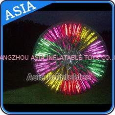 China Popular Inflatable Zorb Ball , Glow Zorb Ball , Fluorescent Roller Ball factory