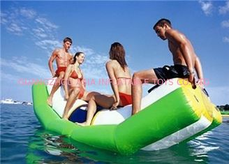 China Green And White Single Water Totter Inflatable Water Sports For 4 People supplier