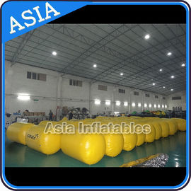China Inflatable Buoys , Cylinder Shape For Water Triathlons Advertising factory