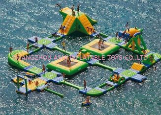 China Huge Wibit Sport Inflatable Water Parks , Aqua Park Games supplier
