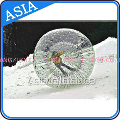 China Clear Inflatable Human Hamster Ball ,  Zorb Ball Used On Snow factory