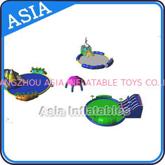 Removable Inflatable Water Park Pool , Inflatable Slide And Pool , Inflatable WaterPark With Pool and Slide