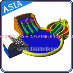 China Inflatable Giant Water Park Pool with Slide , Removable Theme Inflatable Water Park supplier