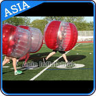 China 100% PVC Inflatable Bumper Ball ,  Half Red Bubble Soccer , Loopy Balls , Soccer Bubble Balls factory