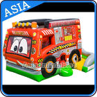 China Outdoor Inflatable Cartoon Bus Jumping Castle For Children Party Games factory