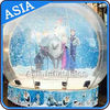 China CE Approval X - Mas Christmas Inflatable Snow Globe For Photo Taking factory