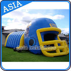 China Purple Inflatable Sports Games Football Tunnel For Event / Advertisement factory