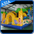 China Ice Age Theme Inflatable Slide Rental Double Slide With Palm Tree / Inflatable Ice Age Slide factory