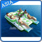 China Capacity 6 Persons Inflatable Island Floating Lounge Inflatable Water Lounge company