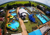 China Mobile Thailand Project Inflatable Water Parks With Slide Puncture-proof factory