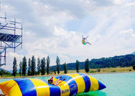 China Crazy Inflatable Water Trampolines / Inflatable Water Pillow For Jumping factory