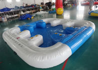 China 6 Person Floating Island , Inflatable Island Rafts For River and Ocean factory