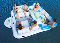 Large Inflatable Floating Island , Inflatable Lounge Water Floating Games For Leisure supplier