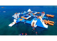 Safe Ocean Inflatable Water Park / Floating Water Playground supplier