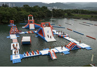 Good Quality Aqua Run Inflatables & Commercial Inflatable Water Parks For Amusement Resort Flame Resistance on sale