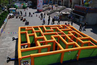 China Inflatable Labyrinth Games, Inflatable Square Maze Game For Chilren factory