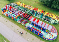 Colorful Giant Inflatable Obstacle Course 5k For Adult Customized Size supplier