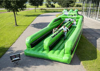 China Two Lanes Inflatable Bungee Run , Inflatable Amusement Park For Children factory