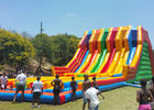 Commercial Giant Inflatable Slide With 6 Lanes For Children CE UL SGS supplier