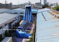 China New Blue  Dry and Wet Slides ,Inflatable Blue Crush Water Slide With Slip N Slide factory