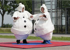 China White Inflatable Cartoon Sumo Suits With Foam / Sumo Wrestler Costume factory