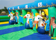 China PVC Tarpaulin Inflatable Horse Racing Game For Kids , 3 Years Warranty factory