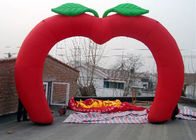 China Custom New Design Welcome Gate Inflatable Arch, Inflatable Red Apple Archway factory