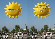 Sun Shaped Custom Inflatable Helium Balloons And Blimps 0.18mm PVC Material supplier