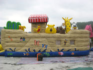 China Inflatable Ship Playground With Cartoon Animals For Kids Amusement factory