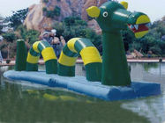 Giant Green Dragon Obstacle Course, Inflatable Water Challenge sports supplier