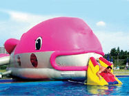 Water Floating Games, Inflatable Obstacle Course In Pink Whale Model supplier