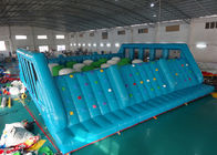 China Blue Inflatable Obstacle Challenges , Bouncy Obstacle Course For Adult And Kids factory
