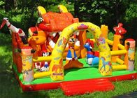 China Backyard Animals Giant Inflatable Fun City / Kids Jungle Bouncer factory