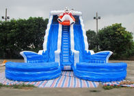 Huge Shark Inflatable Slide With PVC Material / Blow Up Water Slide supplier