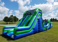 China Pvc Commercial Giant Inflatable Obstacle Course / Adult Inflatable Slide factory