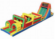 China Playground Inflatable Obstacle Challenges , Blow Up Obstacle Course For Kids factory