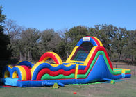 China Big Inflatable Obstacle Course Bounce House For Outdoor Game 2 Years Warranty factory