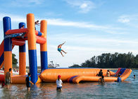 China Giant Lake Inflatable Water Sports With 0.9mm PVC Funny Jumping Pillow Tower factory