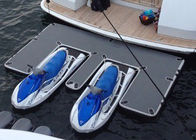 China Waterproof Inflatable Yacht Slides With Personalized Logo Grey / Blue Color factory